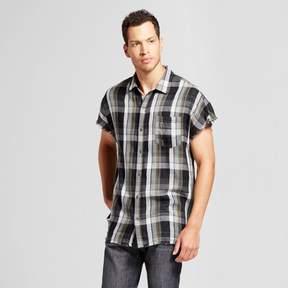 Jackson Men's Cutoff Button-Up Shirt Olive Plaid