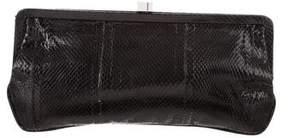 Lambertson Truex Snakeskin Frame Clutch