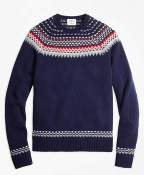 Brooks Brothers Nordic Fair Isle Crewneck Sweater