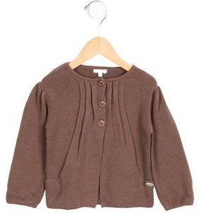 Chloé Girls' Gathered Long Sleeve Cardigan