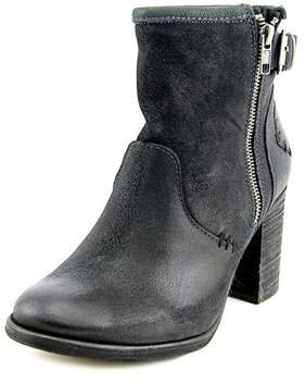 Coolway Mc-22 Women Round Toe Leather Black Ankle Boot.