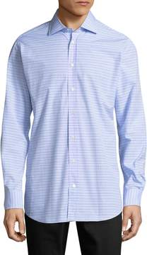 Luciano Barbera Men's Horizontal Stripe Sportshirt