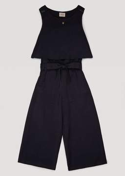 Armani Junior Canvas Dungarees With Belted Waist