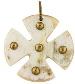 Ashley Pittman Horn Maltese Cross Pendant