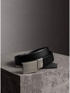 Burberry Reversible Check Embossed Leather Belt
