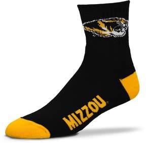 Head Adult For Bare Feet Missouri Tigers Team Color 1/4-Crew Socks