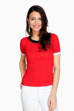 Demy Lee Poppy Juno Cotton Ribbed Knit Shirt