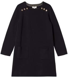 Cyrillus Navy Long Sleeve Pocket Dress