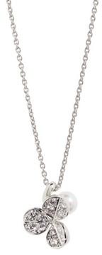 Mikimoto Women's Fortune Leaves Pearl & Diamond Pendant Necklace