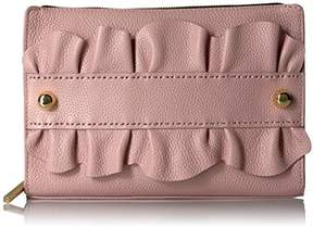 Milly Astor Ruffle Top Zip Clutch