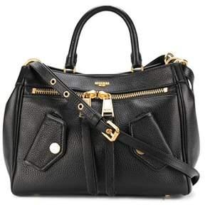 Moschino Women's Black Leather Shoulder Bag.