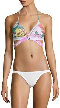 6 Shore Road Women's La Playa Floral Wrap Bikini Top
