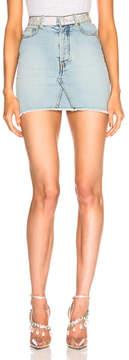 Alexandre Vauthier Crystal Belt Denim Mini Skirt