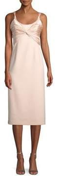 Cinq à Sept Amina Scoop-Neck Sleeveless A-Line Dress w/ Ruched Bodice