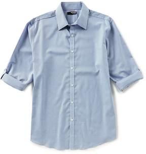 Murano Liquid Luxury Long Sleeve Pointed Collar Geo Dots Shirt