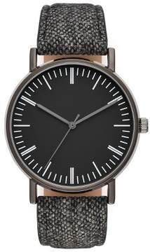Merona Men's Classic Strap Watch Black