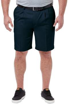 Haggar Big & Tall Cool 18 PRO Classic-Fit Pleated Shorts
