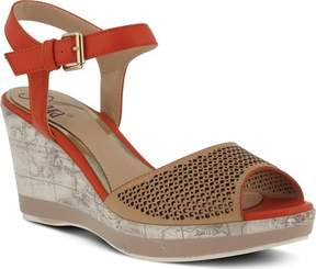 Azura Liefde Perforated Ankle Strap Sandal (Women's)
