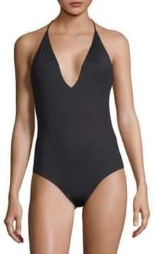 Onia One-Piece Nina Halter Swimsuit