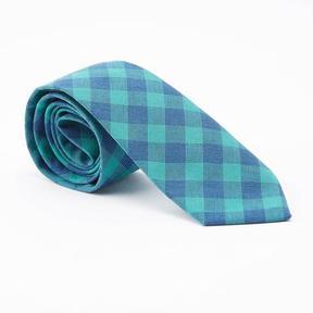 Blade + Blue Green Buffalo Check Tie