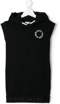 DKNY sleeveless hooded dress