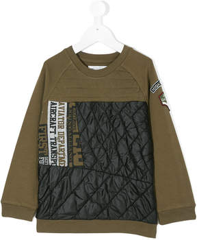 John Galliano quilted sweatshirt