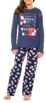 Dex Girl's Dream It Tee and Pants Pajama Set