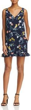 Cooper & Ella Agnes Floral-and-Avian Print Mini Dress