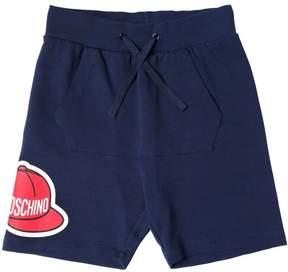 Moschino Printed Cotton Sweat Shorts