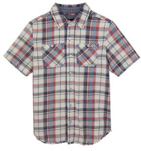 Joe's Jeans Connor Washed Plaid Chambray Shirt