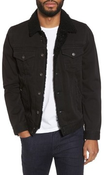 Paige Men's Alec Denim Jacket With Faux Shearling Trim