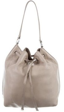 Tory Burch Leather Drawstring Bag - NEUTRALS - STYLE