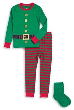 Petit Lem Baby Boy's Three-Piece Elf Pajama Set