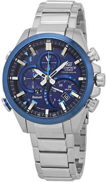 Casio Edifice Alarm Smartphone Link Blue Dial Solar Powered Watch
