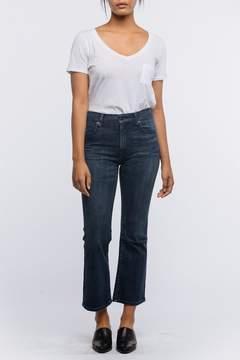Fashionable Kick Cropped Jeans