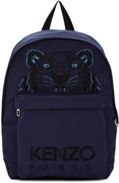 Kenzo Navy Large Tiger Canvas Backpack