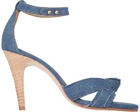Ulla Johnson WOMEN'S KNOTTED ANKLE-STRAP SANDALS