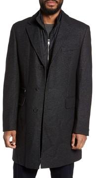 HUGO BOSS Men's Boss Nadim Wool Blend Topcoat