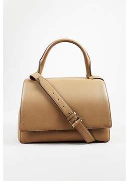 Max Mara Pre-owned Beige Pebbled Deerskin Leather medina Shoulder Bag.