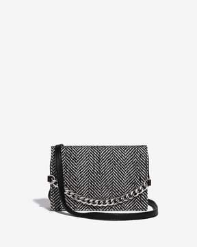 Express Fabric Flap Chain Bag
