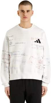 Yeezy Printed & Adidas Logo Cotton Sweatshirt
