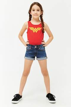 Forever 21 Girls Wonder Woman Graphic Logo Bodysuit (Kids)