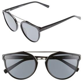 Ted Baker Men's Retro 57Mm Polarized Sunglasses - Black