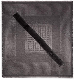 Henri Bendel Sparkle Faux Fur Monogram Pashmina