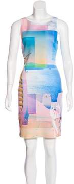 Clover Canyon Neoprene Digital Print Dress