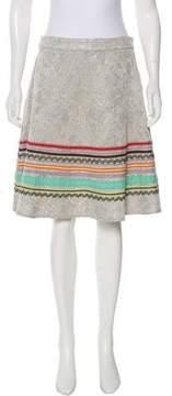 Christian Lacroix Striped Brocade Skirt