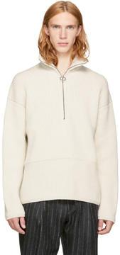 Acne Studios Off-White Wool Neptune Sweater