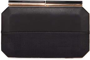 Neiman Marcus Two-Tone Octagon Box Clutch Bag