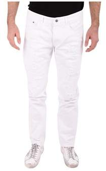 Iceberg Men's White Cotton Jeans.