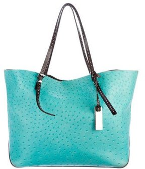 Michael Kors Embossed Leather E/W Gia Tote - BLUE - STYLE